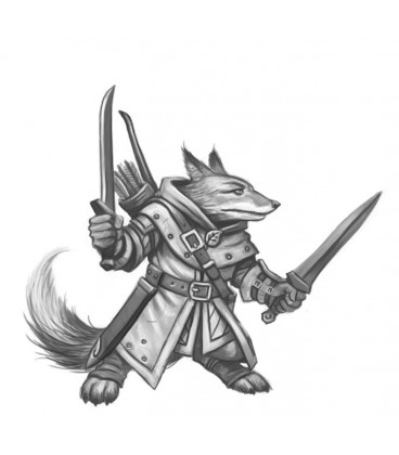 Critter Kingdoms: Fox Dual Wield Warrior (artwork)