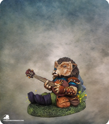 Critter Kingdoms: Hedgehog Bard with Lute (painted by Jessica Rich)