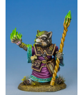 Critter Kingdoms: Raccoon Mage with Staff (painted by Aaron Lovejoy)