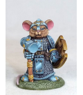Critter Kingdoms: Mouse Cleric with Warhammer (painted by Jessica Rich)