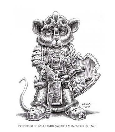 Critter Kingdoms: Mouse Cleric with Warhammer (artwork)