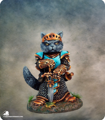 Critter Kingdoms: Nom - Cat Paladin (painted by Marike Reimer)