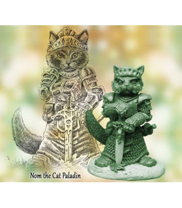Critter Kingdoms: Nom - Cat Paladin (master sculpt by Dave Summers)
