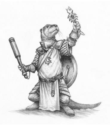 Critter Kingdoms: Harrek - Otter Cleric (artwork)