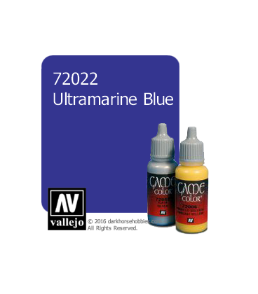 Vallejo Game Color: Acrylic Paint - Ultramarine Blue (17ml)