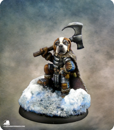 Critter Kingdoms: St. Bernard Warrior (painted by Michael Proctor)