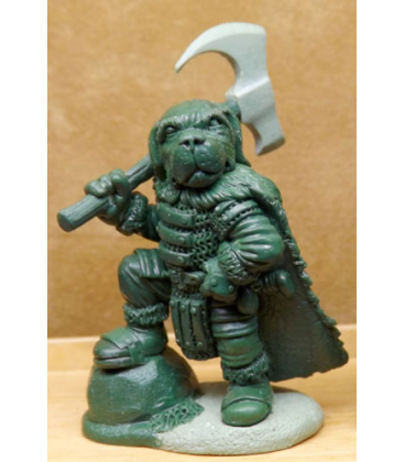 Critter Kingdoms: St. Bernard Warrior (master sculpt by Dave Summers)
