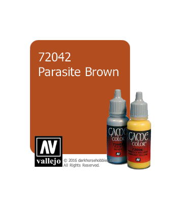 Vallejo Game Color: Acrylic Paint - Parasite Brown (17ml)