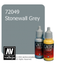 Vallejo Game Color: Acrylic Paint - Stonewall Grey (17ml)