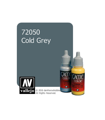 Vallejo Game Color: Acrylic Paint - Cold Grey (17ml)