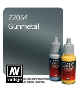 Vallejo Game Color: Acrylic Paint - Gunmetal (17ml)