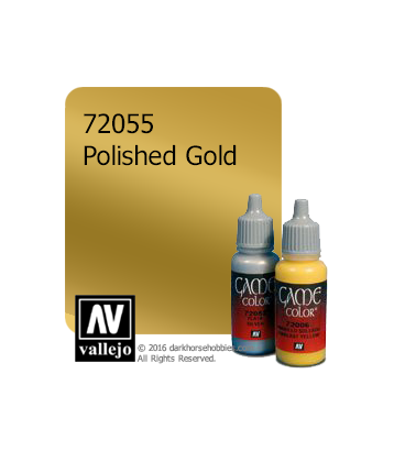 Vallejo Game Color: Acrylic Paint - Polished Gold (17ml)