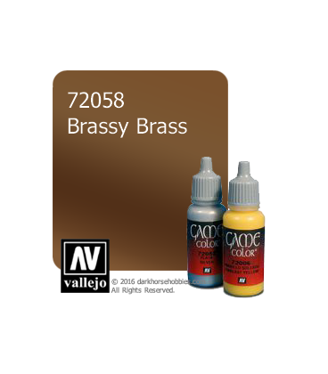 Vallejo Game Color: Acrylic Paint -Brassy Brass (17ml)