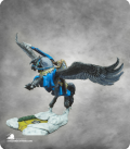 Warlord: Crusaders - Barros & Tempest, Paladin on Pegasus (ainted by Lori Nelson)