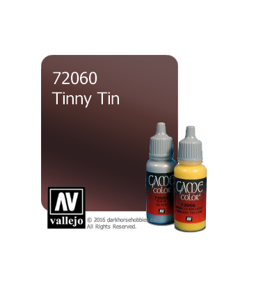 Vallejo Game Color: Acrylic Paint -Tinny Tin (17ml)