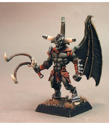 Warlord: Darkspawn - Guros, Baron of Whips Captain (painted by Marike Reimer)