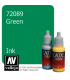Vallejo Game Color: Acrylic Paint - Green Ink (17ml)