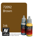 Vallejo Game Color: Acrylic Paint - Brown Ink (17ml)