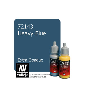 Vallejo Game Color: Acrylic Paint - Heavy Blue (17ml)