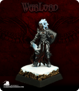 Warlord: Darkreach - Evshyvandra Duskwidow, Dark Elf Warrior (painted by Martin Jones)