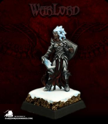 Warlord: Darkreach - Evshyvandra Duskwidow, Dark Elf Warrior (painted by Martin Jones)