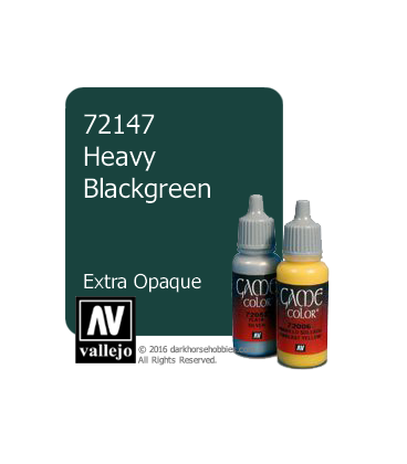 Vallejo Game Color: Acrylic Paint - Heavy Blackgreen (17ml)