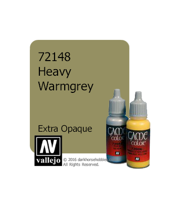 Vallejo Game Color: Acrylic Paint - Heavy Warmgrey (17ml)