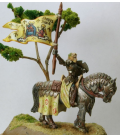 Warlord: Crusaders - Lady Jehanne, Mounted Warlord (painted by Joy Schoenberger)
