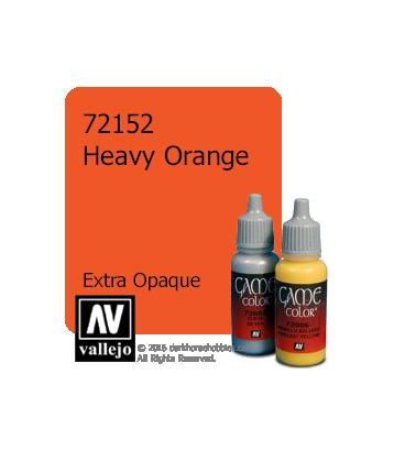 Vallejo Game Color: Acrylic Paint - Heavy Orange (17ml)