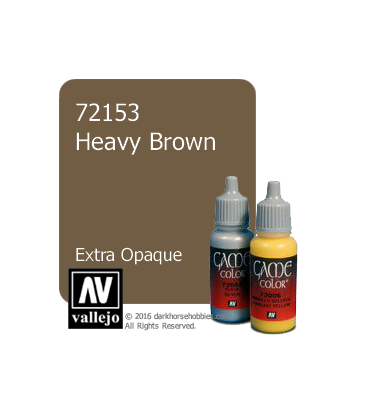 Vallejo Game Color: Acrylic Paint - Heavy Brown (17ml)