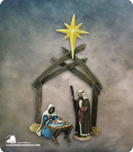 The Nativity (painted by Anne Foerster)