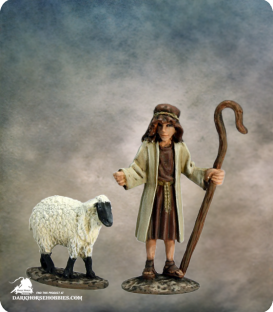 The Nativity: Shepherd (painted by Martin Jones)