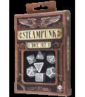 White-black Steampunk dice set
