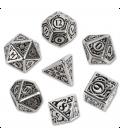 Metal-black Steampunk Dice Set