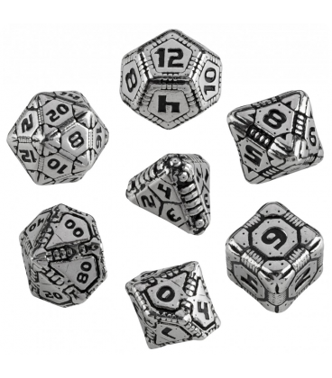Metal-black Tech Dice Set