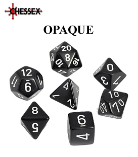 Opaque Polyhedral Dice Sets