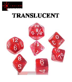 Translucent Polyhedral Dice Sets