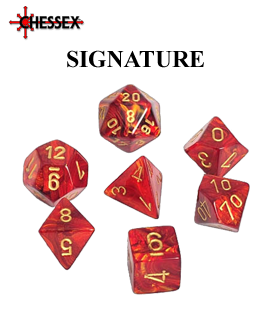 Signature Polyhedral Dice Sets