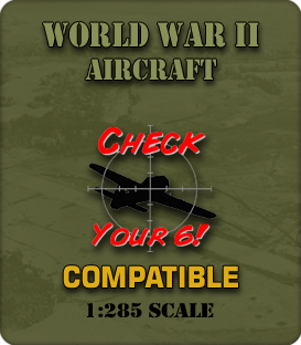 1:285 Scale WWII Aircraft Miniatures
