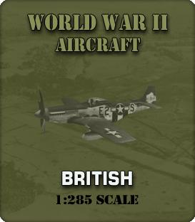 1:285 Scale WW2 British Aircraft