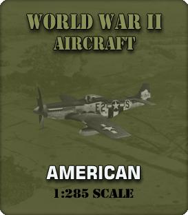 1:285 Scale WW2 American Aircraft