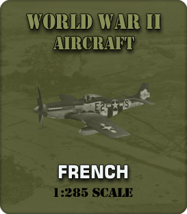 1:285 Scale WW2 French Aircraft