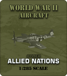 1:285 Scale WW2 Other Allied Aircraft