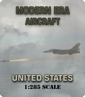 1:285 Scale Modern United States Aircraft