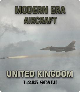 1:285 Scale Modern United Kingdom Aircraft