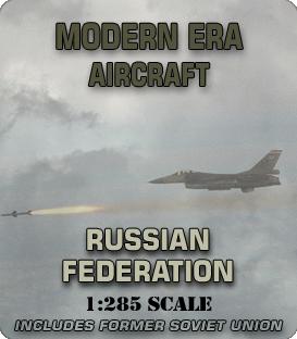 1:285 Scale Modern Russian Aircraft