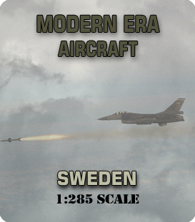 1:285 Scale Modern Sweden Aircraft