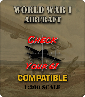 1:285 Scale WWI Aircraft Miniatures