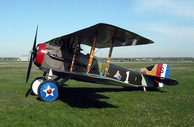 SPAD S.XIII in the colors and markings of Capt. Eddie Rickenbacker, U.S. 94th Aero Squadron.