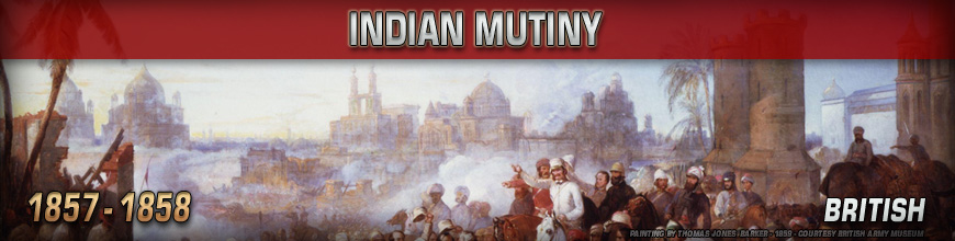 Shop for 10mm Colonial Wars Indian Mutiny (1857-1859) British Gaming Miniatures at Dark Horse Hobbies - Today!